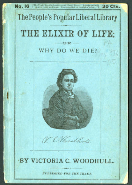 'The Elixir of Life; or Why Do We Die?' pamphlet
