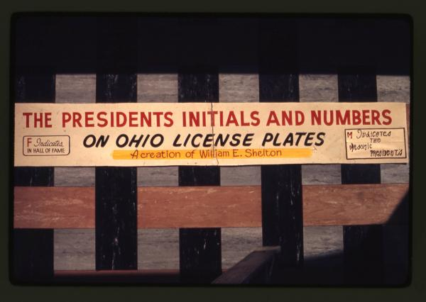Presidential license plates