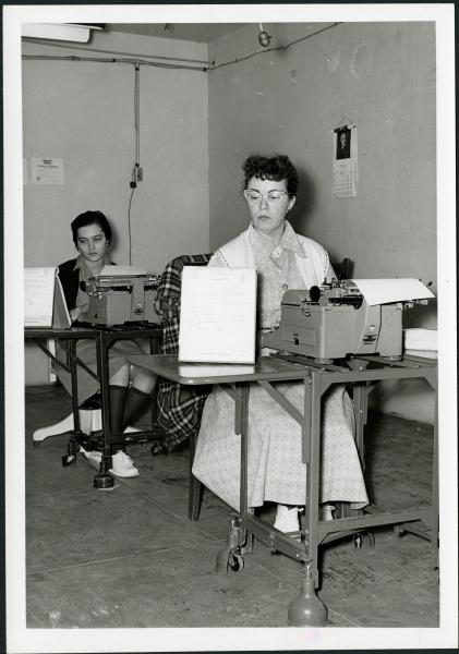 Typing class photograph