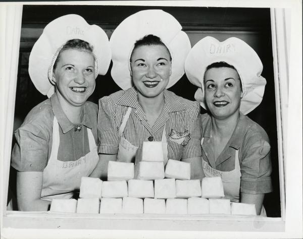 Inmates making butter photograph