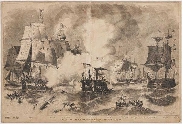 'Battle of Lake Erie; Commodore Perry's Victory' print