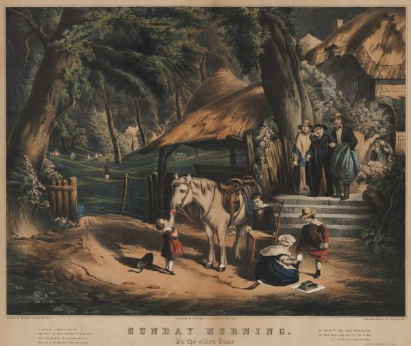 'Sunday Morning in the Olden Time' print