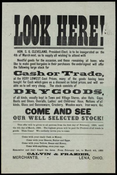 'Look Here!' poster
