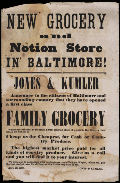 'New Grocery' advertisement