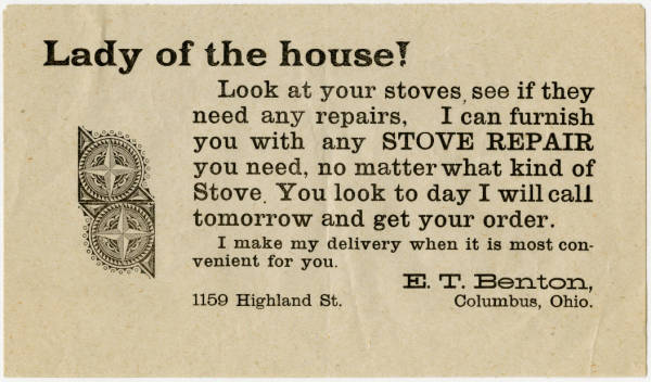 'Lady of the house!' advertisement