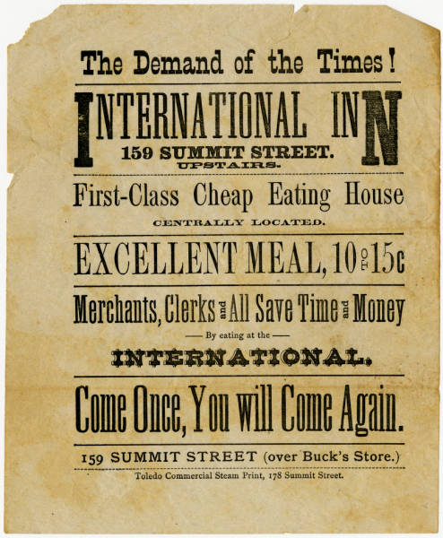 International Inn advertisement