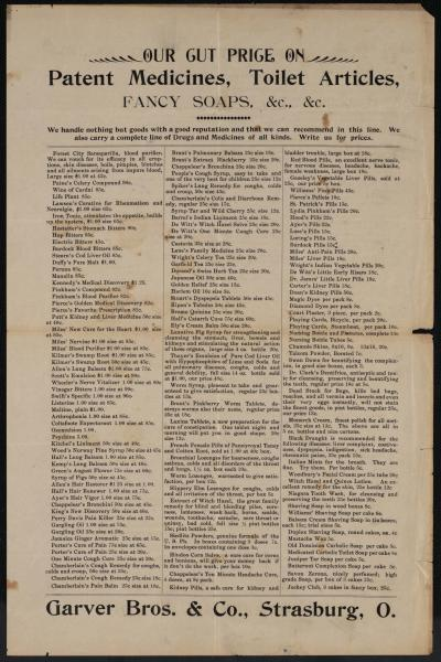 Garver Brothers & Co. broadside