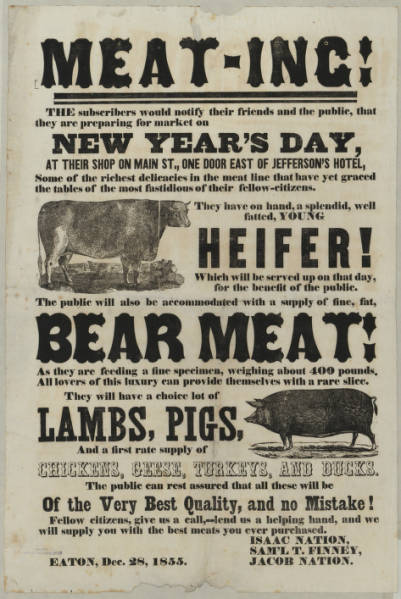 New Year's Day 'Meat-ing' advertisement