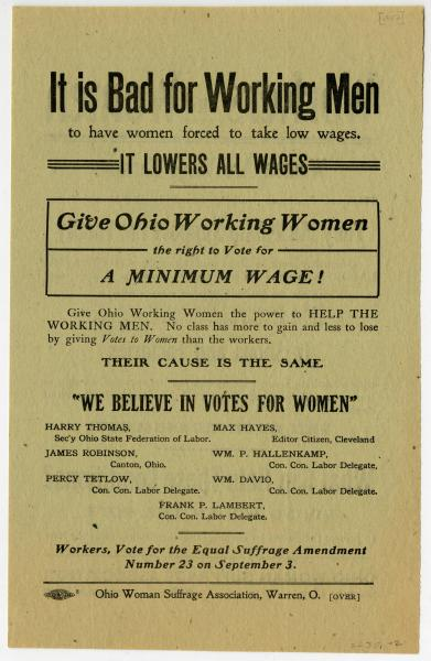 'It is Bad for Working Men' poster