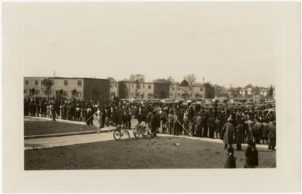 Crowd at Poindexter Village photograph
