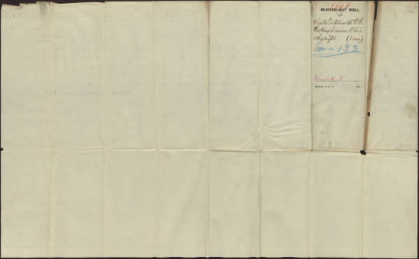 Hospital detachment muster-out rolls, 2nd Ohio Volunteer Cavalry Regiment