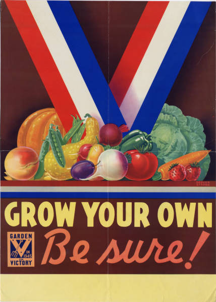 Grow Your Own Victory Garden Poster
