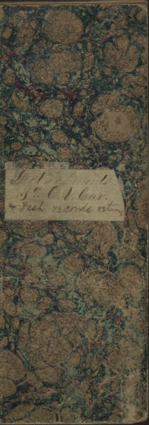 3rd Ohio Volunteer Cavalry Regiment muster-out index book