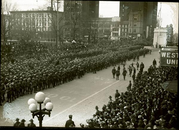 Soldiers on Broad Street photograph