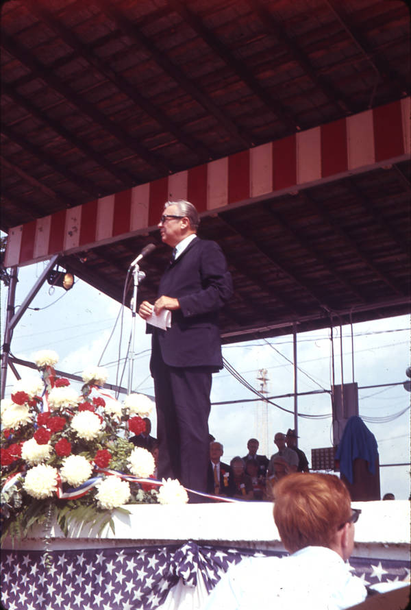 James Rhodes at Neil Armstrong Homecoming Parade photograph