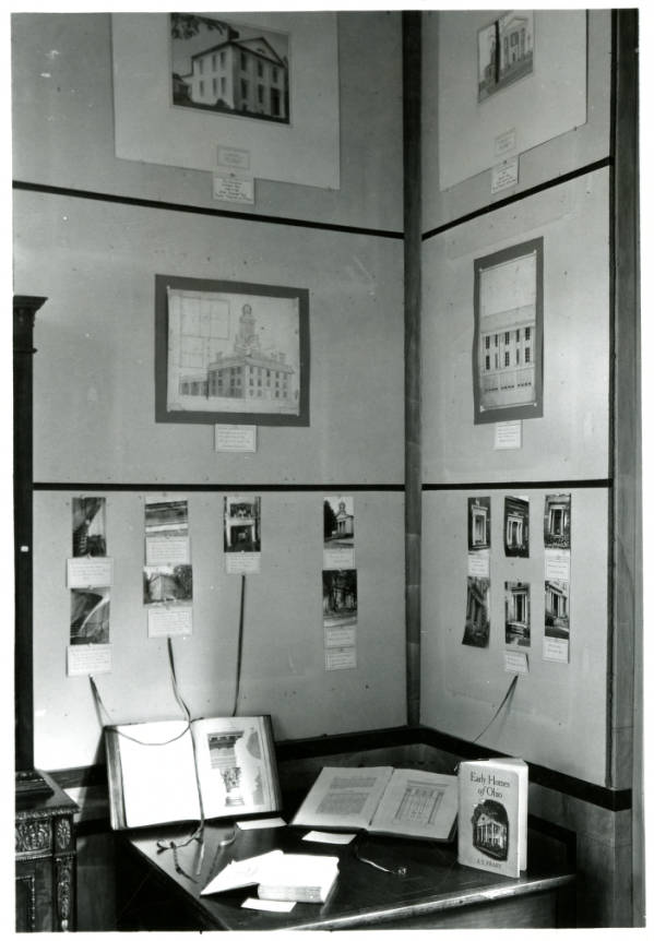Western Reserve Historical Society exhibit of sources for 'Early Homes of Ohio'