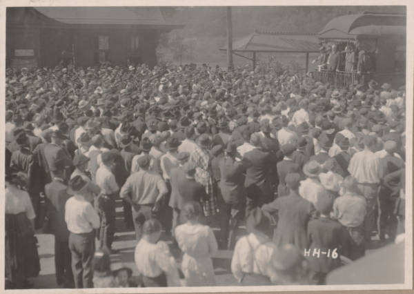 Warren G. Harding presidential campaign crowd photograph