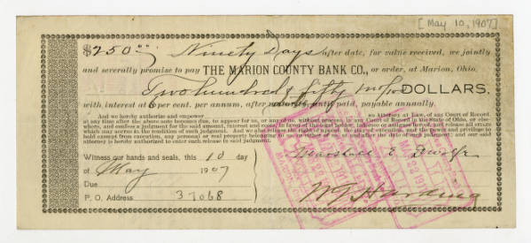 Marion County Bank note
