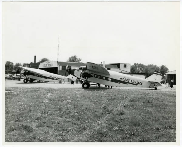 Island Airlines Ford Tri-motors on ground