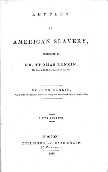 'Letters on American Slavery' book