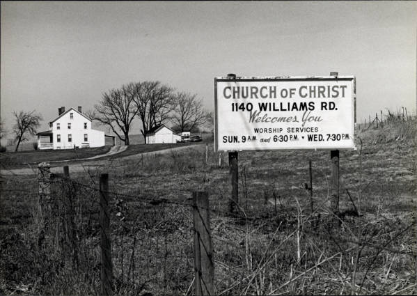 Church billboard photograph