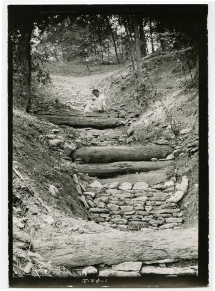 Civilian Conservation Corps employee at Fort Ancient