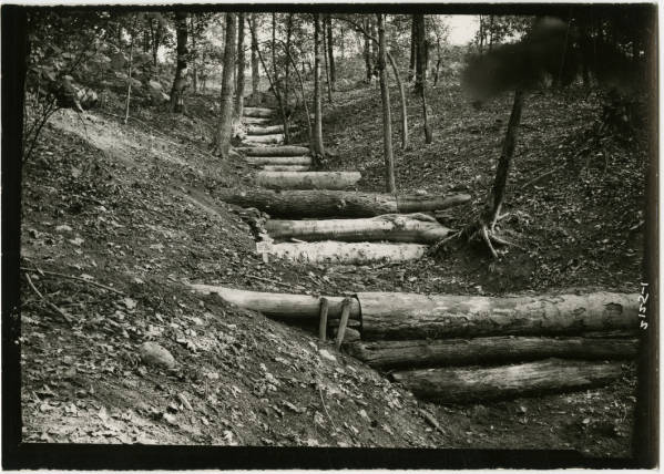 Civilian Conservation Corps work at Fort Ancient