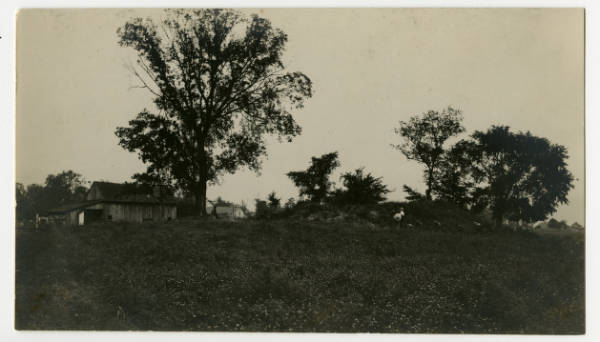 Edwin Harness Mound at start of excavation
