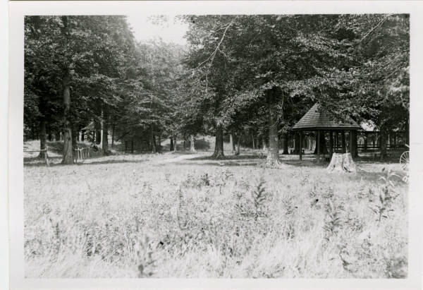 Picnic stand at Fort Ancient photograph