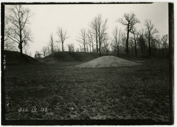 Mound reconstruction at Fort Ancient