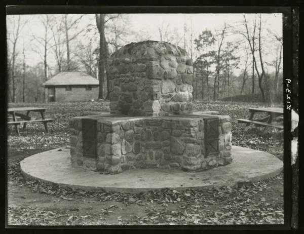 Fireplace at Fort Ancient photograph