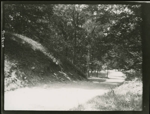 Roadway at Fort Ancient photograph