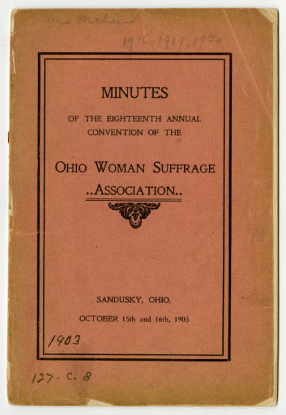 Ohio Woman Suffrage Association 1903 convention minutes