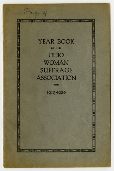 Ohio Woman Suffrage Association 1919-1920 yearbook