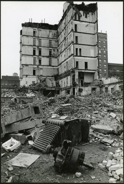 Chittenden Hotel demolition photograph