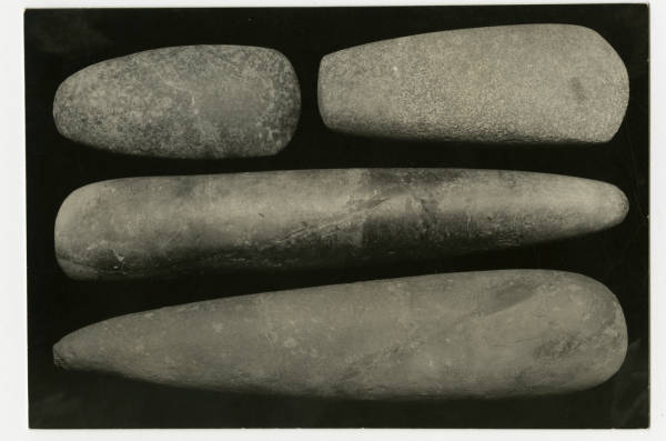 Hopewell stone celts photograph