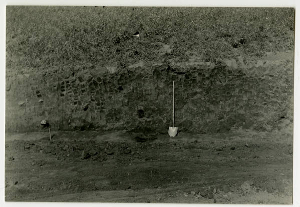 Hopewell Mound No. 25 excavation photograph