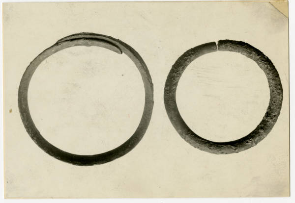 Hopewell Mound Group copper bracelets photograph