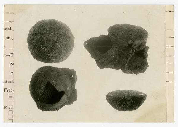 Hopewell pyrite cones photograph