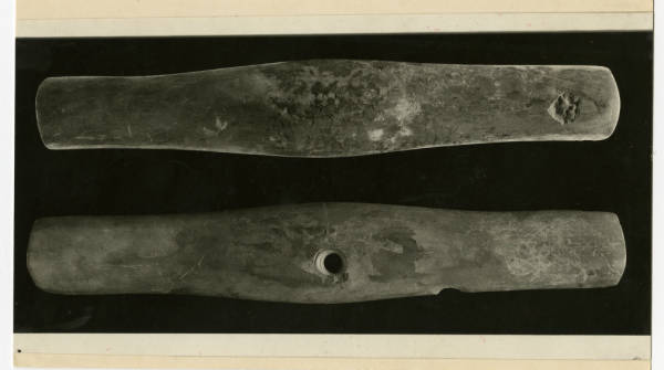 Hopewell argillite gorgets photograph