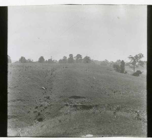 North wall and moat at Hopewell Mound Group