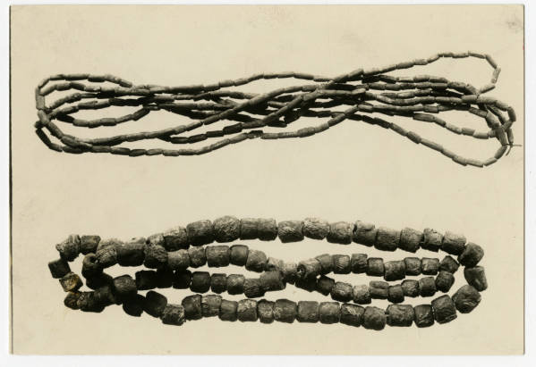 Bird bone and copper beads from Hopewell Mound Group