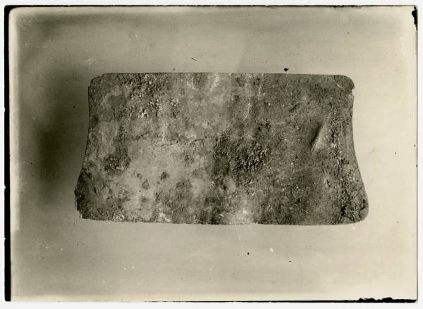 Hopewell Mound Group copper breast plate photograph