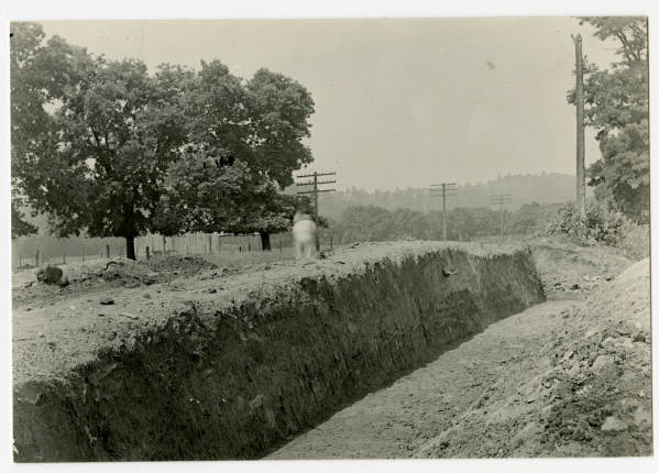 Hopewell Mound No. 7 excavation photograph