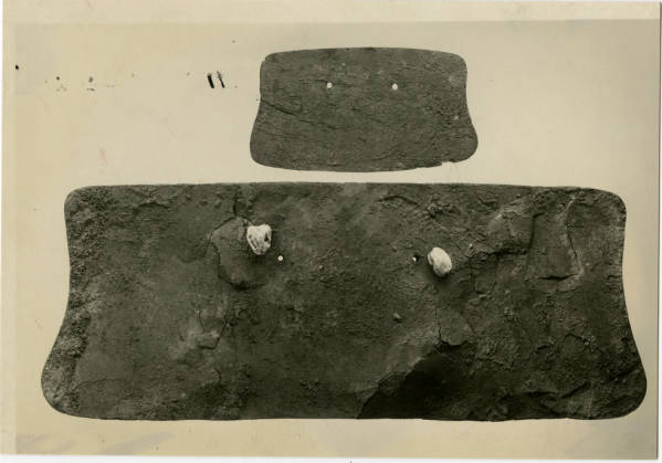 Hopewell Mound Group copper breast plates photograph