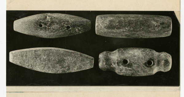 Hopewell chlorite gorgets photograph