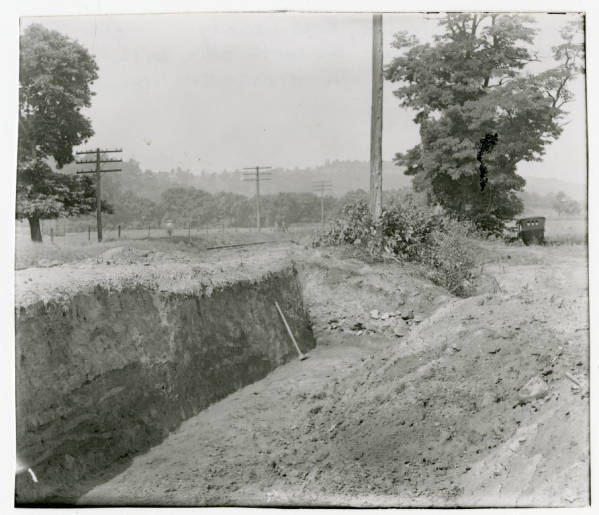 Hopewell Mound Group #7 excavation photograph