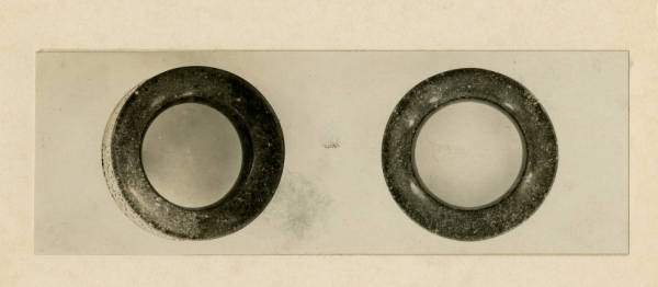 Hopewell pipestone rings photograph