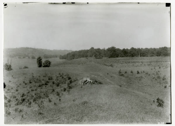 View from Hopewell Mound Group main gateway