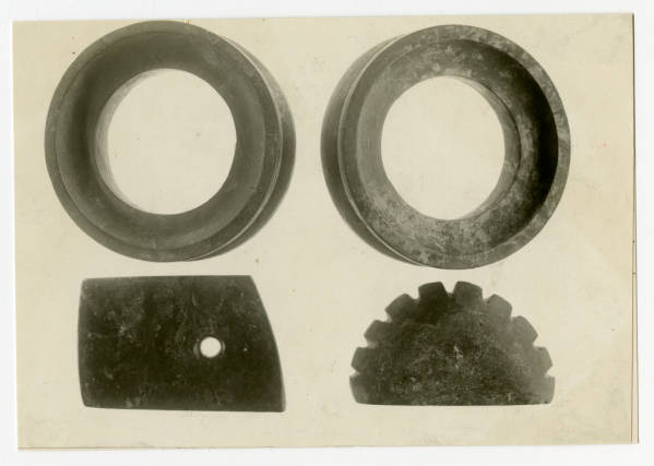 Hopewell stone rings and gorgets photograph
